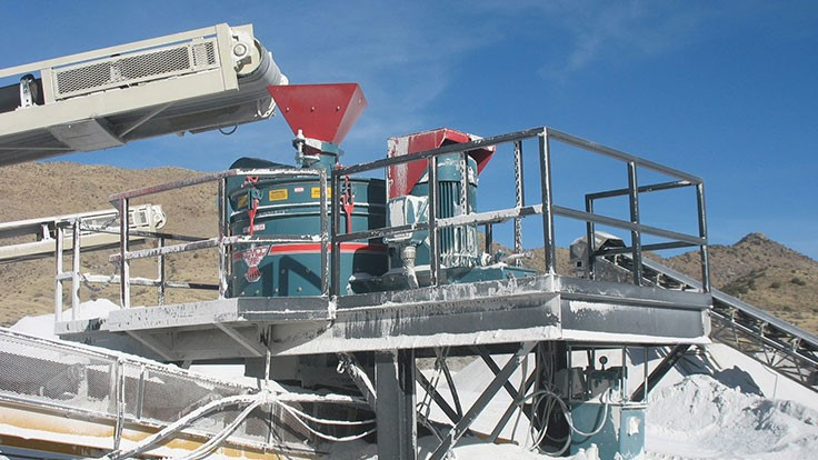 Cemco vertical crusher processes a variety of aggregate materials