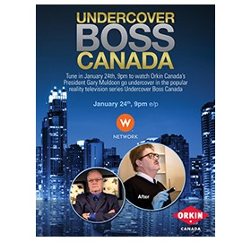 Orkin Canada is Subject of Upcoming 'Undercover Boss Canada'