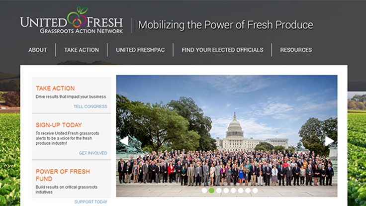 United Fresh launches grassroots website