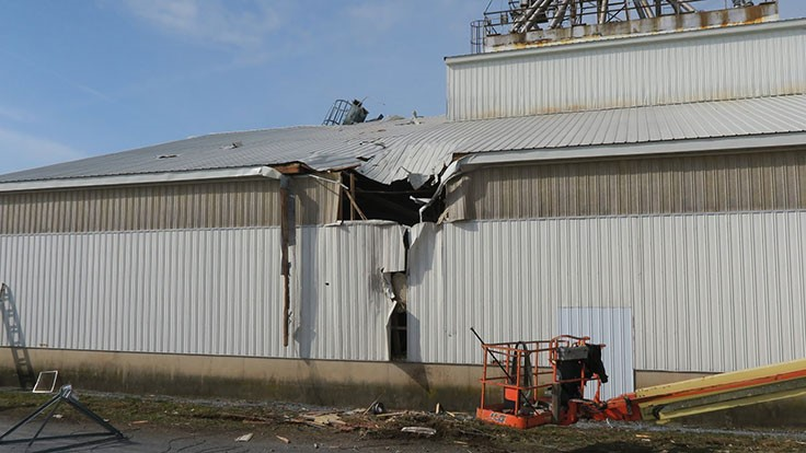 USA Gypsum bounces back quickly after storm damages buildings