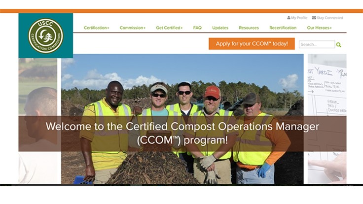 Composting Council's certified operations credential program improves website