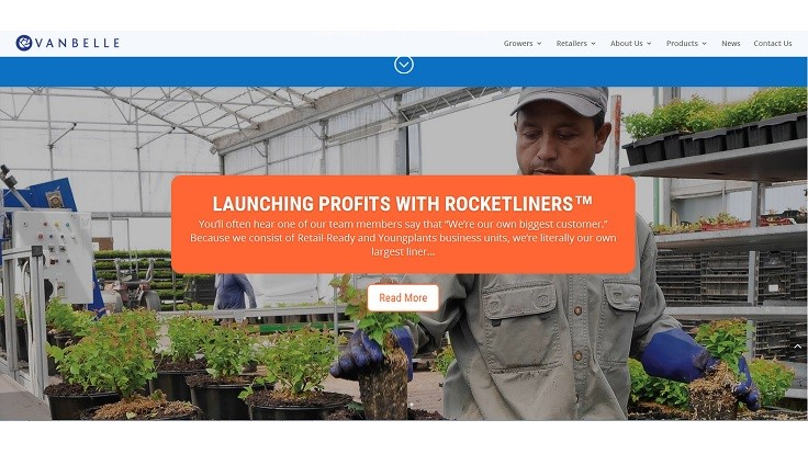 Van Belle Nursery redesigns website
