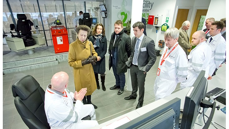 Veolia waste-to-energy plant receives royal treatment