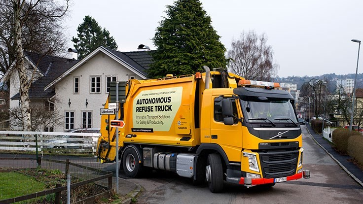 Volvo Group tests self-driving refuse truck