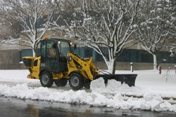 Wacker Neuson wheel loader transforms for winter