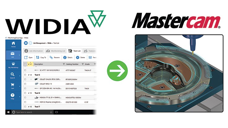 Mastercam and WIDIA: Fast, simple tooling data solution