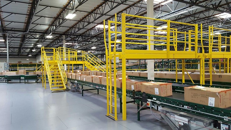 Wildeck product designed to provide modular factory walkways