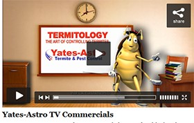 Video: TV Commercials from Yates-Astro Termite & Pest Control
