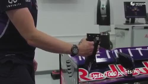 Hexagon trackside Metrology for Red Bull Racing