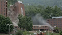 Appalachian State Winkler Hall Demolition Implosion