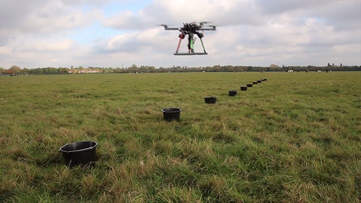 Drones for mapping, mass planting