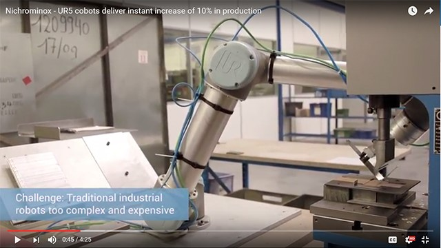 UR5 cobots deliver instant increase of 10% in production