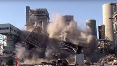 Coal-Fired Boiler Implosion Video