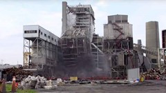 Duke Energy Sutton Plant Boiler #2 Implosion Video