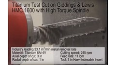 Titanium cut on Giddings & Lewis HMC 1600 with high-torque spindle
