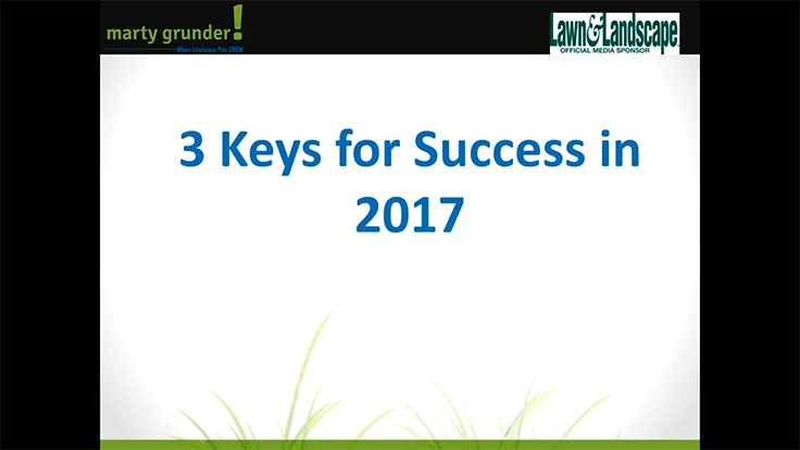 3 keys for success in 2017