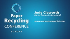 Paper Recycling Conference Europe Podcast Interview: Jody Cleworth, Marine Transport International