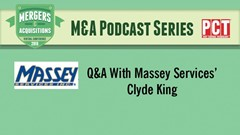 M&A Podcast Series: Clyde King of Massey Services