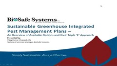Sustainable Greenhouse Integrated Pest Management Plans