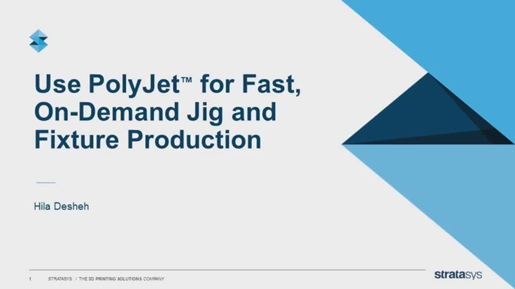 Fast, On-Demand Jig and Fixture Production Webinar
