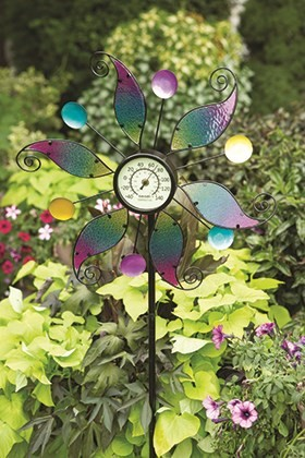 Rainbow Leaf — Thermometer Spinner Stake