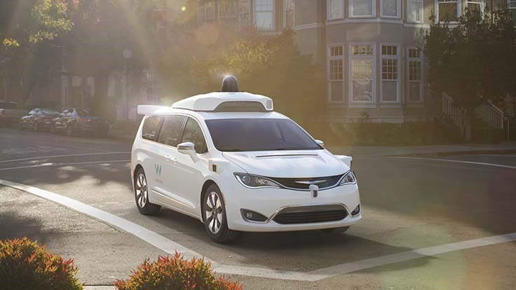 Waymo orders thousands of Chrysler Pacifica minivans for driverless ride-hailing service