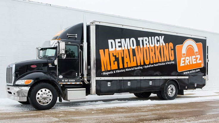 Eriez Metalworking Demo Truck kicks off tour in West Coast
