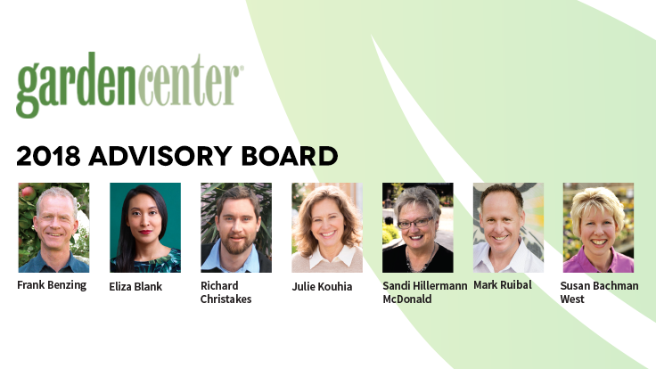Garden Center magazine announces 2018 Advisory Board