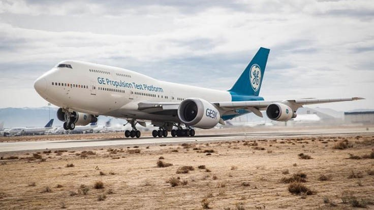 GE9X engine takes first flight