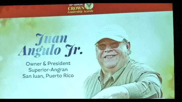 Crown Leadership Award Recipient Juan Angulo Jr.
