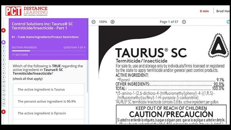Online Label Training Modules for CSI's Taurus Now Live