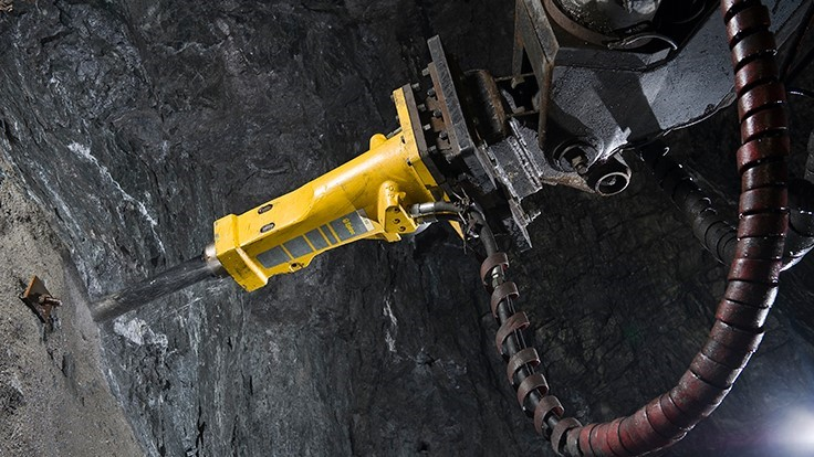 Epiroc solid body breaker range can be used in scaling, tunneling and underground mining