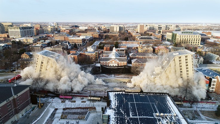 Two dorms imploded on University of Nebraska-Lincoln's campus