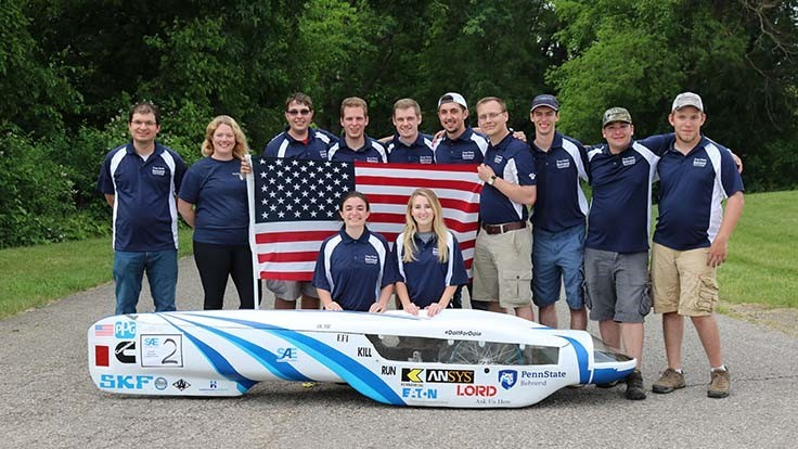 Penn State Behrend team tops 3,000mpg to win SAE Supermileage contest