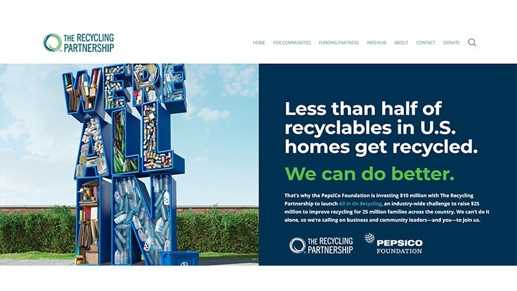 The Recycling Partnership, PepsiCo Foundation partner to drive investment in residential recycling