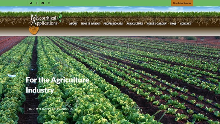 Mycorrhizal Applications launches updated website