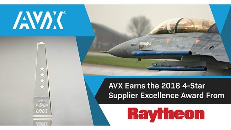 AVX receives Raytheon 4-Star Supplier Excellence Award