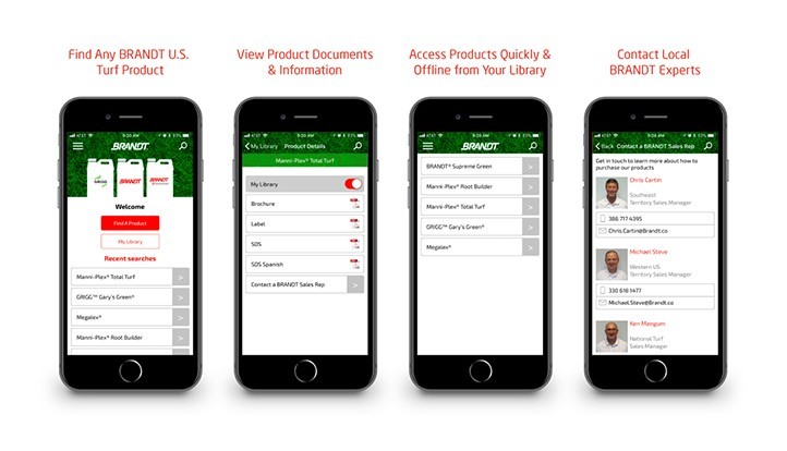 BRANDT releases turf product finder app