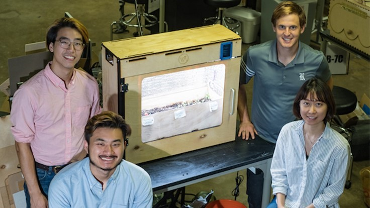 Rice University engineering students develop 'greenhouse' for city-dwellers
