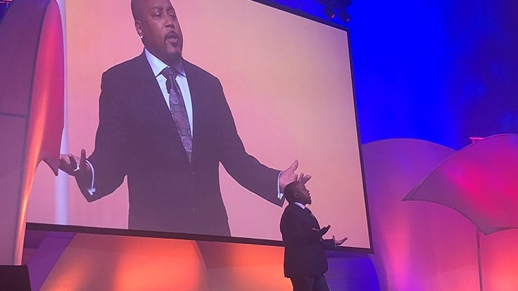 Daymond John discusses early life, personal obstacles during 2018 IGC Show keynote