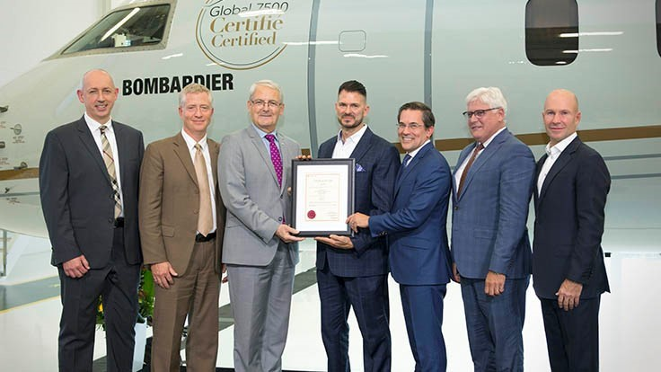 Bombardier Global 7500 earns Transport Canada type certification