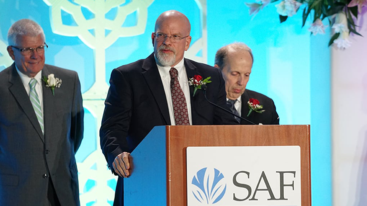 Dr. Charlie Hall receives 2018 SAF Paul Ecke, Jr. Award
