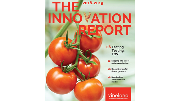 Vineland Research & Innovation Centre releases 2018-19 Innovation Report