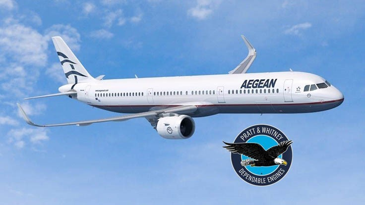 Pratt & Whitney GTF engines to power Aegean Airlines Airbus A320neos