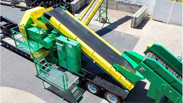 CM mobile tire shredding systems used in Africa