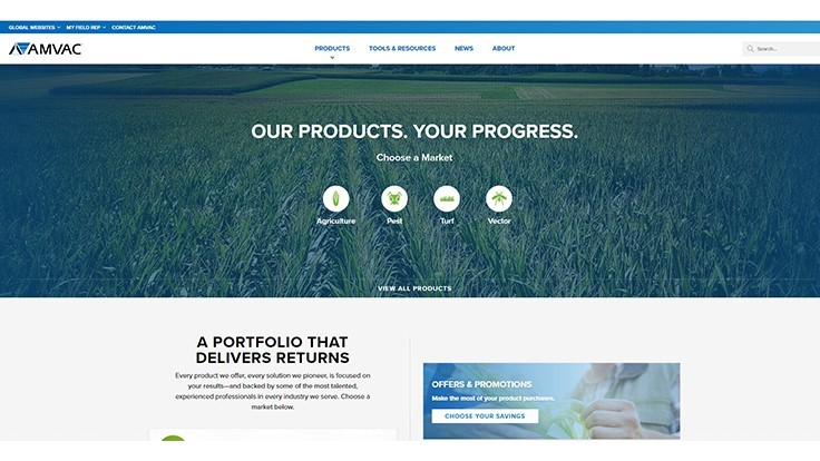 AMVAC Launches New Customer-Facing Website