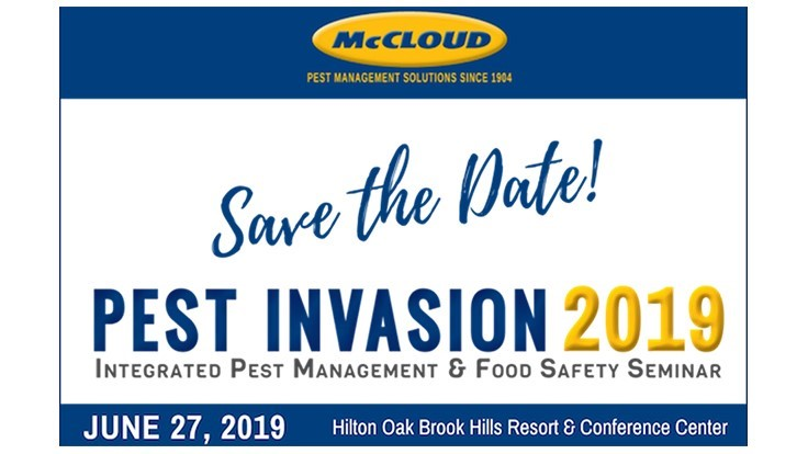 McCloud Services Announces Upcoming Pest Invasion Food Safety Seminar