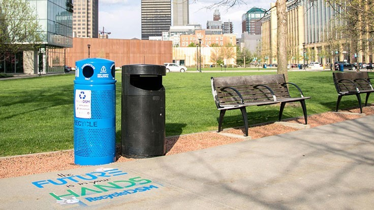 Recycling bin grant program increases public access