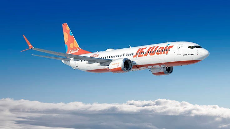 Jeju Air orders up to 50 Boeing 737 MAX airplanes