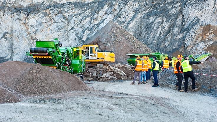 McCloskey holds international equipment demonstration